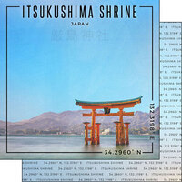 Scrapbook Customs - World Site Coordinates Collection - 12 x 12 Double Sided Paper - Japan - Itsukushima Shrine