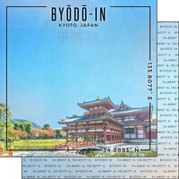 Scrapbook Customs - World Site Coordinates Collection - 12 x 12 Double Sided Paper - Japan - Kyoto Byodoin