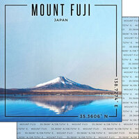 Scrapbook Customs - World Site Coordinates Collection - 12 x 12 Double Sided Paper - Japan - Mt. Fuji