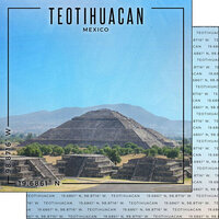 Scrapbook Customs - World Site Coordinates Collection - 12 x 12 Double Sided Paper - Mexico - Teotihuacan