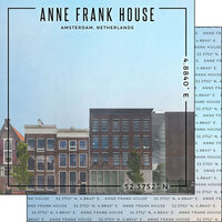 Scrapbook Customs - World Site Coordinates Collection - 12 x 12 Double Sided Paper - Netherlands - Anne Frank House