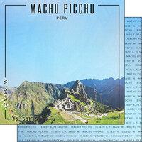 Scrapbook Customs - World Site Coordinates Collection - 12 x 12 Double Sided Paper - Peru - Machu Picchu
