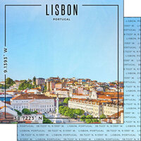 Scrapbook Customs - World Site Coordinates Collection - 12 x 12 Double Sided Paper - Portugal - Lisbon
