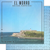 Scrapbook Customs - World Site Coordinates Collection - 12 x 12 Double Sided Paper - Puerto Rico - El Morro