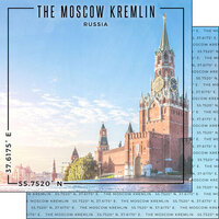 Scrapbook Customs - World Site Coordinates Collection - 12 x 12 Double Sided Paper - Russia - Kremlin