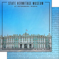 Scrapbook Customs - World Site Coordinates Collection - 12 x 12 Double Sided Paper - Russia - State Hermitage Museum