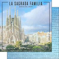 Scrapbook Customs - World Site Coordinates Collection - 12 x 12 Double Sided Paper - Spain - Sagrada Familia