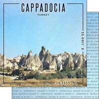 Scrapbook Customs - World Site Coordinates Collection - 12 x 12 Double Sided Paper - Turkey - Cappadocia