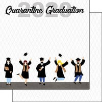 Scrapbook Customs - Graduation Collection - 12 x 12 Double Sided Paper - 2020 Quarantine