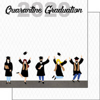 Scrapbook Customs - Graduation Collection - 12 x 12 Double Sided Paper - 2020 Quarantine