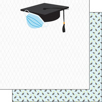Scrapbook Customs - Graduation Collection - 12 x 12 Double Sided Paper - Hat
