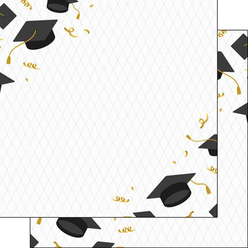 Scrapbook Customs - Graduation Collection - 12 x 12 Double Sided Paper - Corners