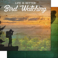 Scrapbook Customs - Life Is Better Collection - 12 x 12 Double Sided Paper - Bird Watching