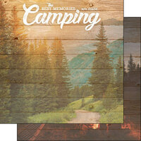 Scrapbook Customs - Life Is Better Collection - 12 x 12 Double Sided Paper - Camping