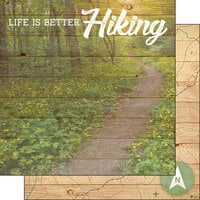 Scrapbook Customs - Life Is Better Collection - 12 x 12 Double Sided Paper - Hiking