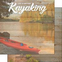 Scrapbook Customs - Life Is Better Collection - 12 x 12 Double Sided Paper - Kayaking
