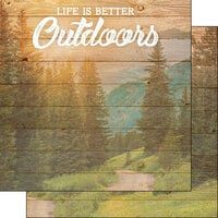 Scrapbook Customs - Life Is Better Collection - 12 x 12 Double Sided Paper - Outdoors