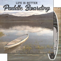 Scrapbook Customs - Life Is Better Collection - 12 x 12 Double Sided Paper - Paddle Boarding
