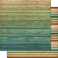 Scrapbook Customs - 12 x 12 Double Sided Paper - Wood Stripes Background