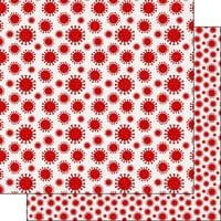 Scrapbook Customs - Covid-19 Collection - 12 x 12 Double Sided Paper - Virus Red
