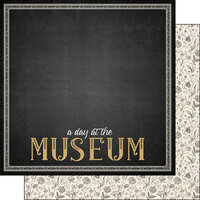 Scrapbook Customs - Museum Collection - 12 x 12 Double Sided Paper - Border