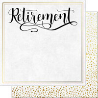 Scrapbook Customs - Retirement Collection - 12 x 12 Double Sided Paper - Script