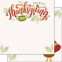 Scrapbook Customs - 12 x 12 Double Sided Paper - Thanksgiving 2020