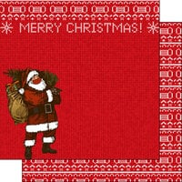 Scrapbook Customs - 12 x 12 Double Sided Paper - Merry Christmas - Masked Santa