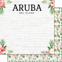 Scrapbook Customs - Vacay Collection - 12 x 12 Double Sided Paper - Aruba