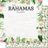 Scrapbook Customs - Vacay Collection - 12 x 12 Double Sided Paper - Bahamas
