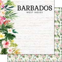 Scrapbook Customs - Vacay Collection - 12 x 12 Double Sided Paper - Barbados