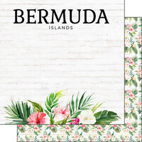Scrapbook Customs - Vacay Collection - 12 x 12 Double Sided Paper - Bermuda
