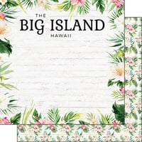 Scrapbook Customs - Vacay Collection - 12 x 12 Double Sided Paper - Big Island