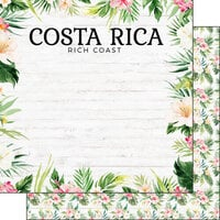 Scrapbook Customs - Vacay Collection - 12 x 12 Double Sided Paper - Costa Rica