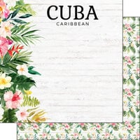 Scrapbook Customs - Vacay Collection - 12 x 12 Double Sided Paper - Cuba