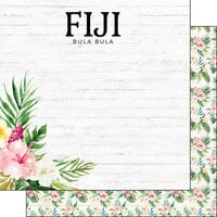 Scrapbook Customs - Vacay Collection - 12 x 12 Double Sided Paper - Fiji