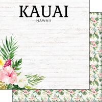 Scrapbook Customs - Vacay Collection - 12 x 12 Double Sided Paper - Kauai