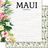 Scrapbook Customs - Vacay Collection - 12 x 12 Double Sided Paper - Maui