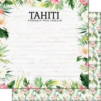 Scrapbook Customs - Vacay Collection - 12 x 12 Double Sided Paper - Tahiti