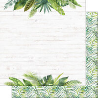 Scrapbook Customs - Vacay Collection - 12 x 12 Double Sided Paper - Fern