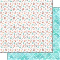 Scrapbook Customs - Vacay Collection - 12 x 12 Double Sided Paper - Shells