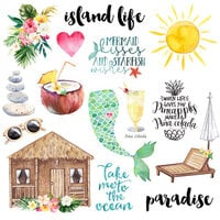 Scrapbook Customs - Vacay Collection - Laser Die Cut Outs - Set One