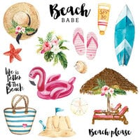 Scrapbook Customs - Vacay Collection - Laser Die Cut Outs - Set Two