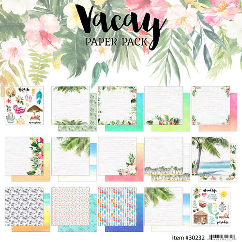 Scrapbook Customs - Vacay Collection - 12 x 12 Collection Kit