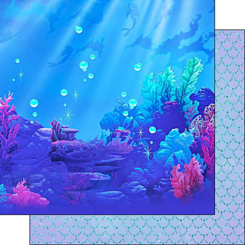 Scrapbook Customs - 12 x 12 Double Sided Paper - Water Princess