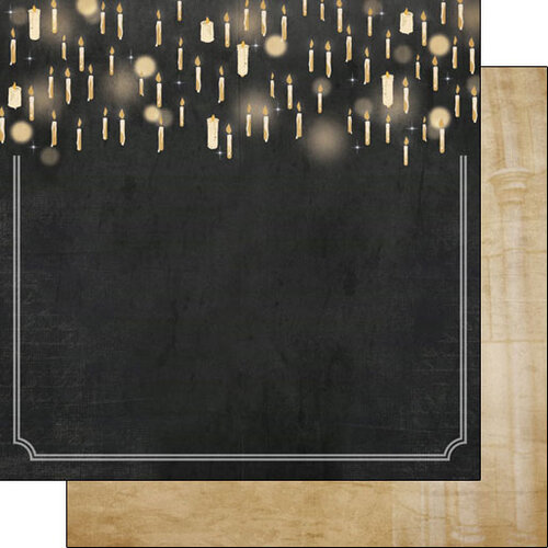 Scrapbook Customs - Wizarding World Collection - 12 x 12 Double Sided Paper - Rooms