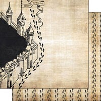 Scrapbook Customs - Wizarding World Collection - 12 x 12 Double Sided Paper - Feet
