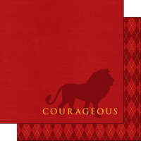 Scrapbook Customs - Wizarding World Collection - 12 x 12 Double Sided Paper - Courageous