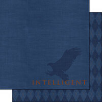 Scrapbook Customs - Wizarding World Collection - 12 x 12 Double Sided Paper - Intelligent