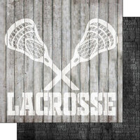 Scrapbook Customs - 12 x 12 Double Sided Paper - Lacrosse Wood